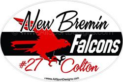 Falcon Hawk Car Window Decals Stickers Magnets Wall Decals