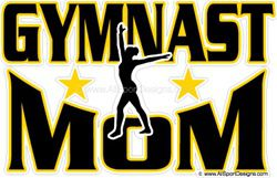 Gymnast MOM stickers clings decals & magnets