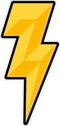 lightning bolt helmet award stickers decals