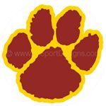 Paw print helmet reward stickers decals