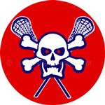 Lacrosse skull helmet reward stickers decals