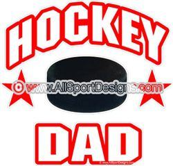hockey DAD  car stickers decals clings & magnets