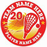 lacrosse decals stickers clings & magnets