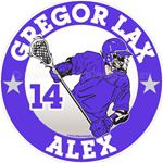 lacrosse car window sticker decal magnet