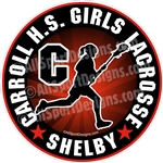 lacrosse girl decals stickers clings & magnets