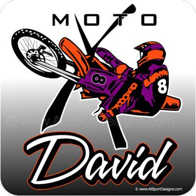 Car Decals Magnet Wall Decals For Motocross And Fundraising - Personalized car decals
