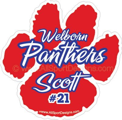 Car Decals For Paw Print - Car window decal stickers sports