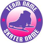 ice skating stickers clings decals & magnets