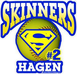 softball car window sticker decal magnet