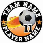 soccer window sticker decal clings magnets