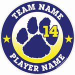 soccer paw mascot window sticker decal clings & magnets