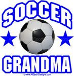 Soccer GRANDMA Window Decals Stickers or Magnets