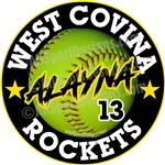 Softball Car Decals Magnets & Yard Signs