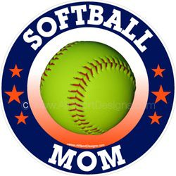 softball car window sticker decal magnet wall decal