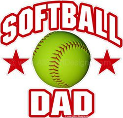 Softball DAD Window Decals Stickers Magnets Wall Decals