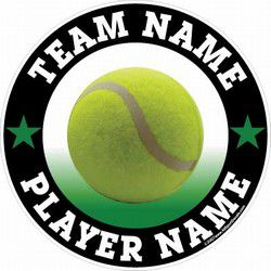 One of the very many different tennis car decals online