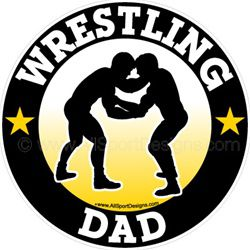 Wrestling DAD stickers decals clings & magnets
