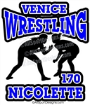 Wrestling Female window sport stickers decals clings & magnets