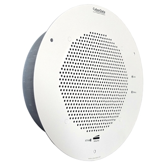 CyberData PoE SIP Paging Speaker, Gray White
