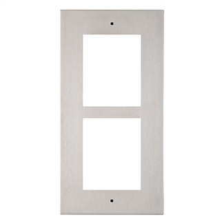 2N IP Verso Mount, Wall Frame, 2 Modules, Nickel