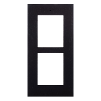 2N IP Verso Mount, Wall Frame, 2 Modules, Black