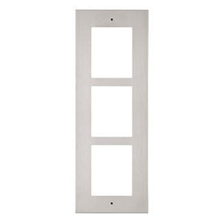 2N IP Verso Mount, Wall Frame, 3 Modules, Nickel