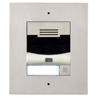 2N IP Solo Intercom, Flush, Nickel