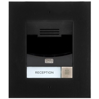 2N IP Solo Intercom, Flush, Black