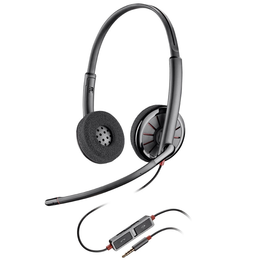 Plantronics Blackwire 225 Stereo Wired Headset - 205204-12