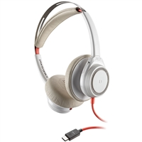 Plantronics Blackwire 7225 Headset, USB-C, White