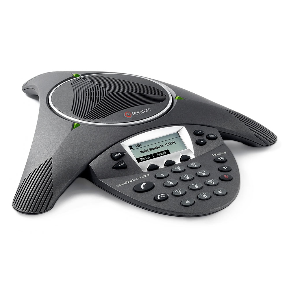 Polycom SoundStation IP 6000 Conference Phone, Refurbished - 2200-15600-001