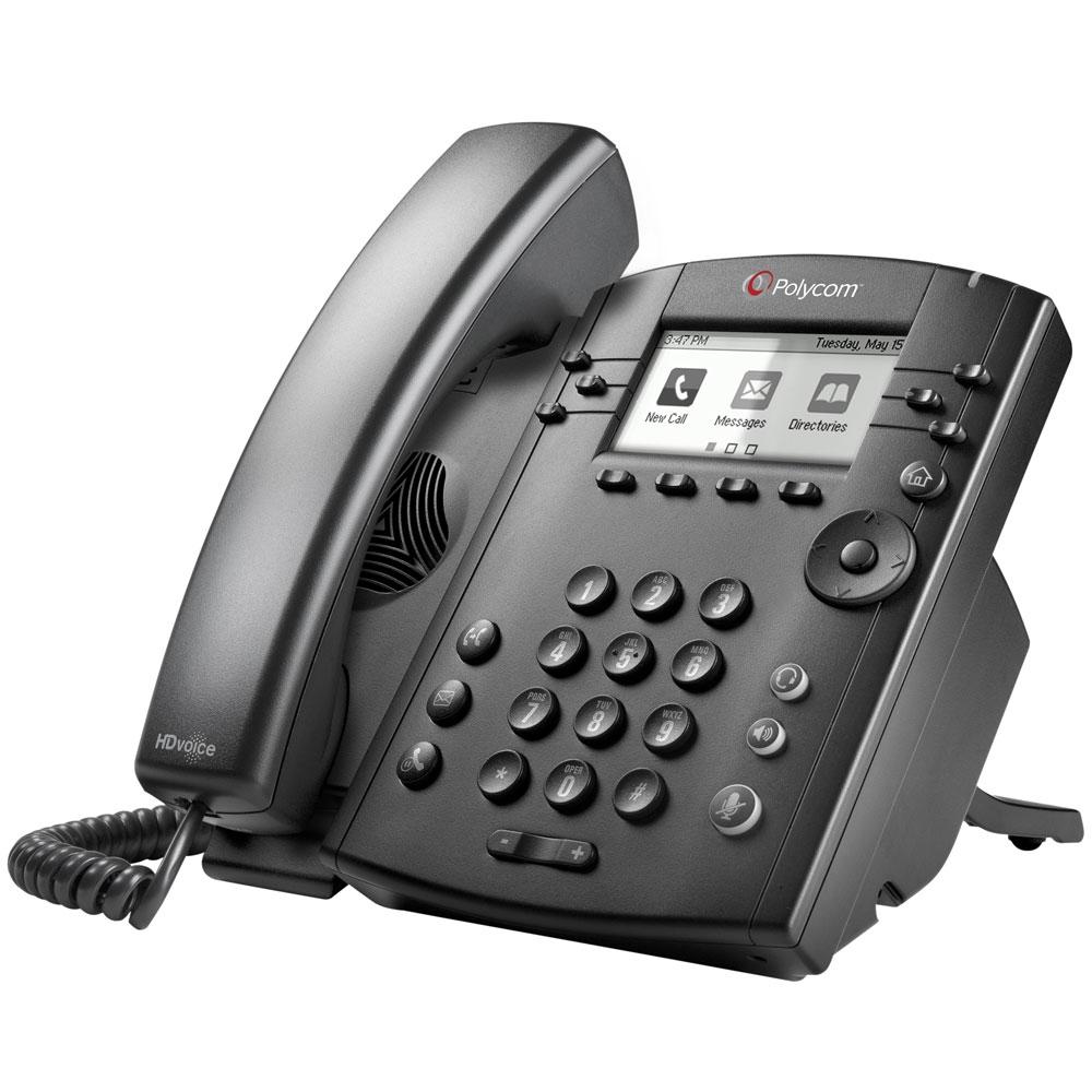 Polycom VVX 300 IP Phone, Refurbished - 2200-46135-025