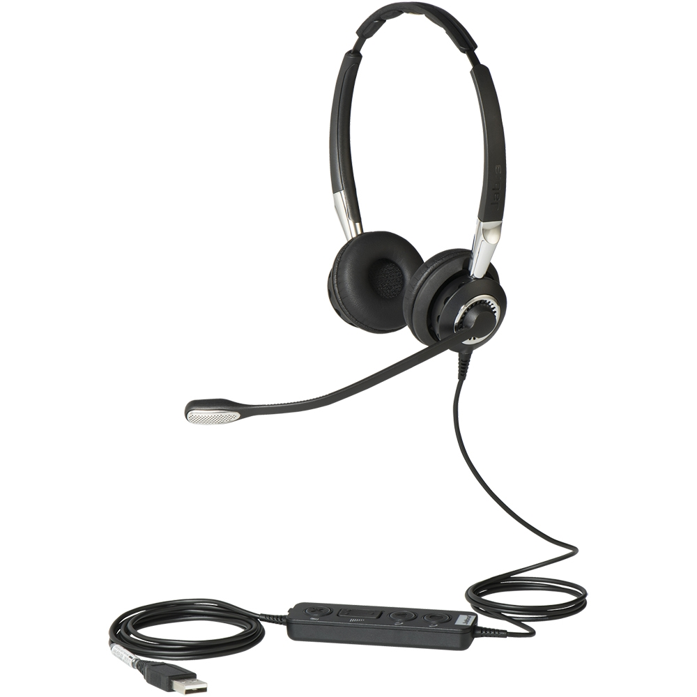 Jabra BIZ 2400 II Duo USB Headset, Skype for Business - 2499-823-309