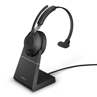 Jabra Evolve2 65 MS, Mono, USB-A, Charging Stand, Black