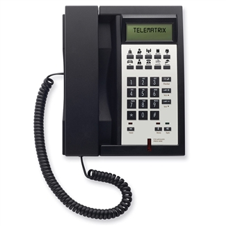 Telematrix 3302IPMWD 2-Line Black Hotel IP Phone