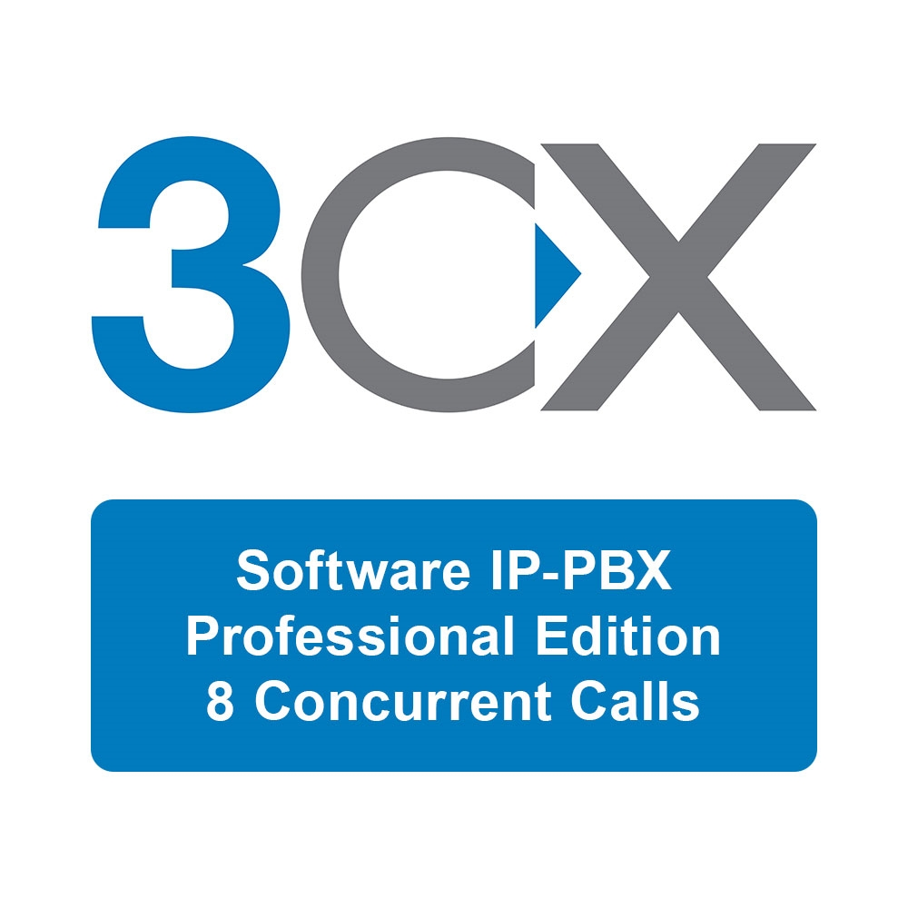 3CX Phone System Professional Edition - 8 Simultaneous Calls