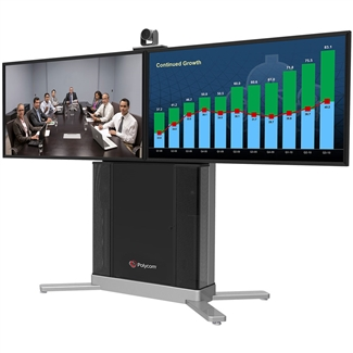 "Polycom Group 500-720 Dual 42"" Display Media Center"