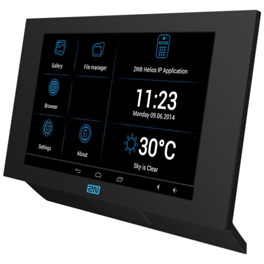 """2N Indoor Touch In Black, SIP Intercom, 7"""" Touchscreen"""