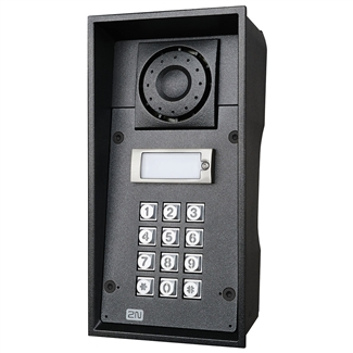 2N Helios IP Force Intercom, 1 Button, Keypad