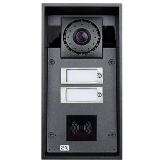 2N Helios IP Force IP69K Intercom, 2 Buttons, HD Camera, RFID Ready