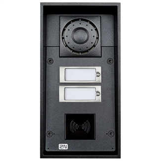 2N Helios IP Force Intercom, 2 Buttons, RFID Ready