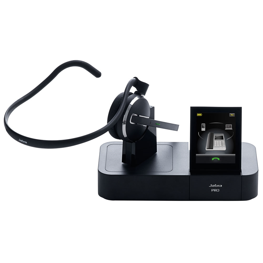 Jabra Pro 9460 Duo Wireless Headset With Touchscreen For: Jabra PRO 9470 Mono Wireless Headset