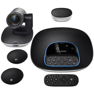 Logitech GROUP Video Conferencing System with Expansion Microphones