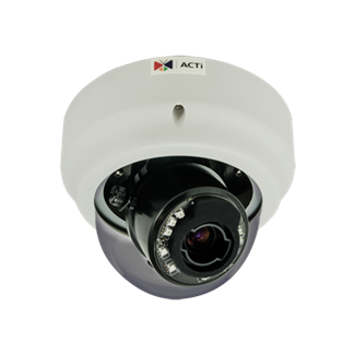 ACTi B64, 1.3MP Indoor Zoom Dome, Network Surveillance Camera