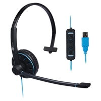 JPL Telecom Blue Commander-1 USB Headset