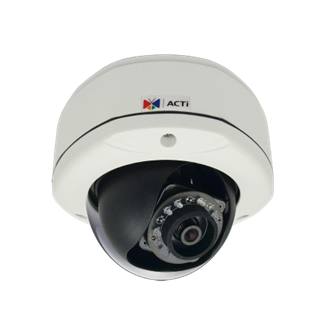 ACTi D72A, 3MP Outdoor Dome, Network Surveillance Camera
