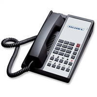 Teledex DA110N10D Black 1-Line Analog Hotel Room Phone