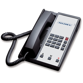 Teledex DA110N3D Black 1-Line Analog Hotel Room Phone