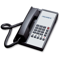 Teledex DA110N5D Black 1-Line Analog Hotel Room Phone
