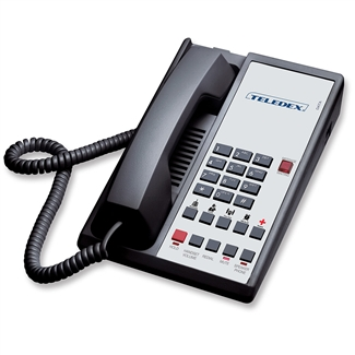 Teledex DA110S5D Black 1-Line Analog Hotel Room Phone